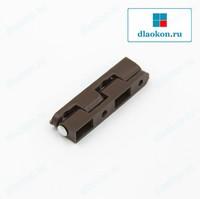 Петля балконной москитной сетки коричневая со штифтом