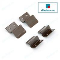 Z-образное крепление, коричневое, металл
