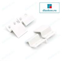 Z-образное крепление, белое, пластик