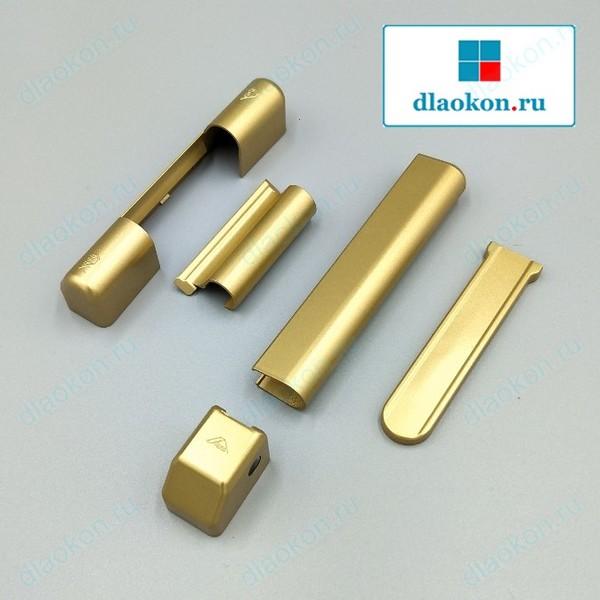 Накладки на петли золото матовое Roto