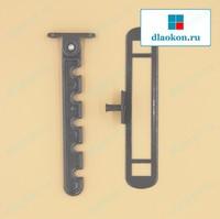 Гребёнка для алюминиевых окон RAL7024, металл