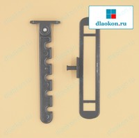 Гребёнка для алюминиевых окон RAL на выбор, металл