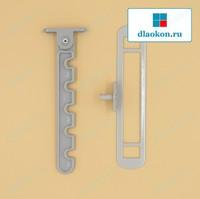 Гребёнка для алюминиевых окон серая, металл